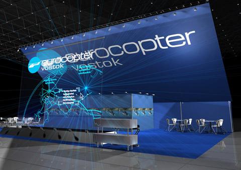 Стенд компании «Еврокоптер» выставка «JET EXPO», 2007