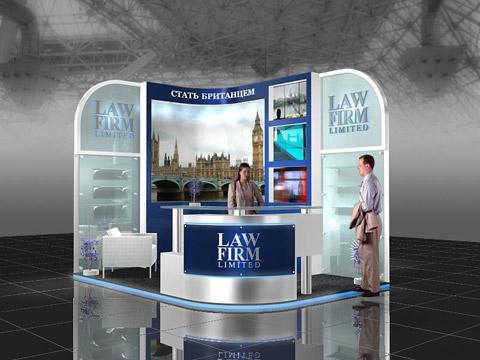 Стенд компании LAW FIRM Выставка «EXTRAVAGANZA», 2007, Манеж (строились одновременно)