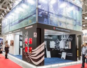 Стенд компании «Лаборатория отопления», выставка Акватерм, 2013