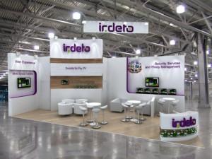 Стенд компании «Irdeto», выставка CSTB, 2013