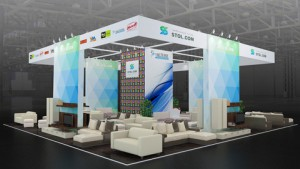 Стенд компании «Мягков», выставка Московский Международный Мебельный Салон, 2013