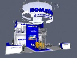 Стенд компании «Komatsu», выставка ITFM, 2013