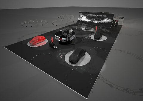 Стенд ООО «РОЛЬФ Импорт» проект «Митсубиси» Выставка: 2-ой Московский Международный Автомобильный Салон, 2008