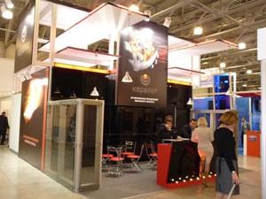Стенд ООО «Экспо-Мир» проект «Кералит» выставка «Металл-Экспо», 2008