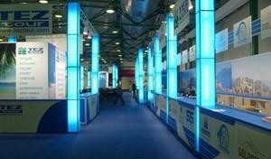 Стенд компании «Tez Tour» выставка «MITT» Дизайн компании ООО «Рашн Креатив Центр»,2009