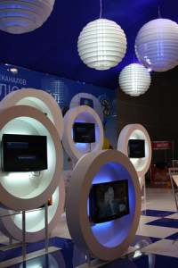Стенд «НТВ ПЛЮС» выставка «CSTV-2010» Заказ и дизайн ООО «Рашн Креатив Центр», 2010