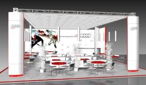 Оформление презентации компании AUDI на Третьем международном фестивале современного кино «Завтра»/2morrow3», кинотеатр «35мм», 2010
