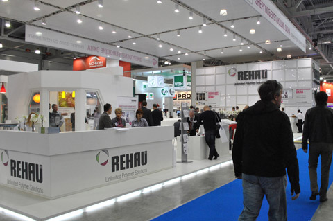 Стенд компании «Rehau», Выставка «МосБилд «, 2011