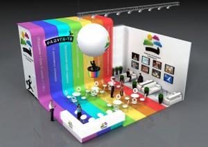 Стенд компании «Радуга ТВ», Выставка «CSTB», 2012