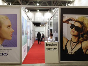 Стенд компаний «Лакшери Хаус» и «Seiko», Выставка «Очковая оптика», 2012