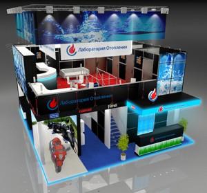 Стенд компании «Лаборатория отопления», Выставка «AquaTherm», 2012